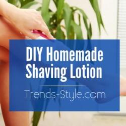 DIY Homemade Shaving Lotion