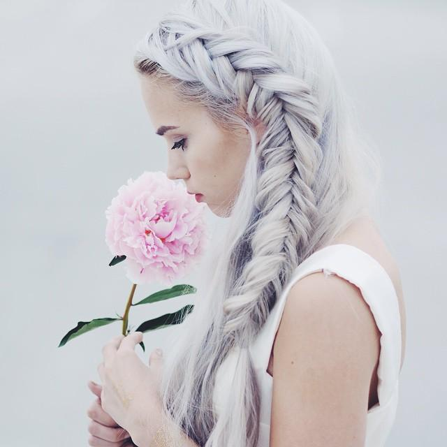 beautiful side braid