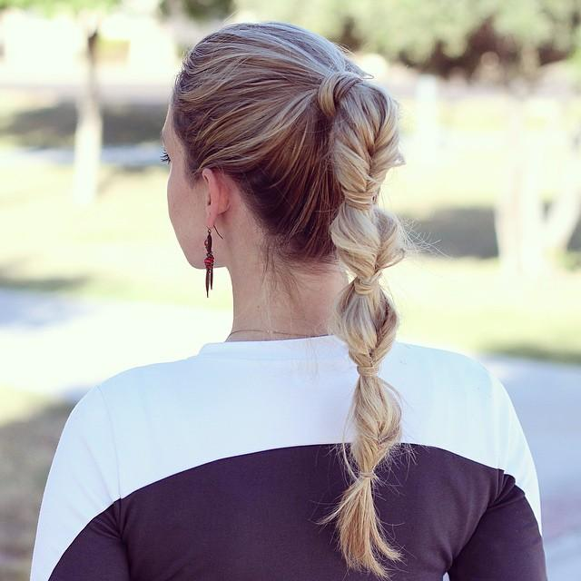 faux braid ponytail