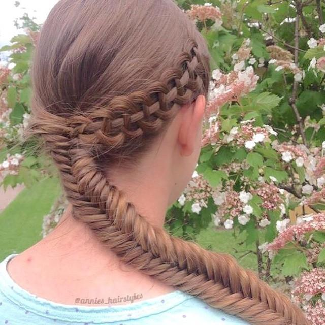 four strand slide up fishtail combo