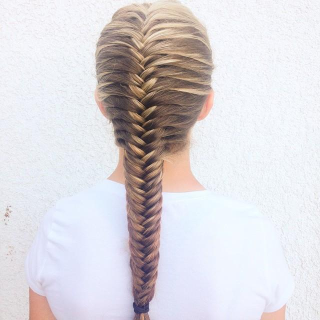 Neat french fishtail for Fish tail hair