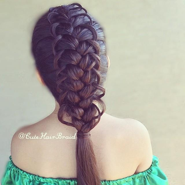 french looped braid