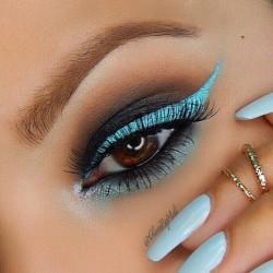 sparkling blue look