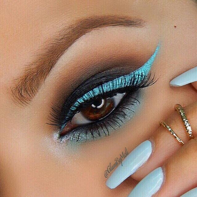 sparkling blue look