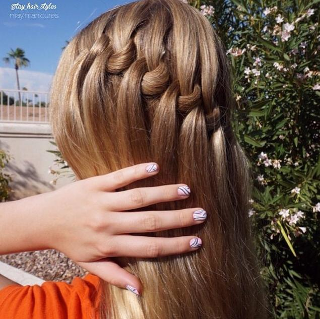 loop waterfall braid
