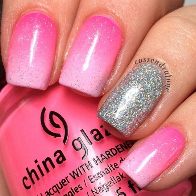 pretty pink mani #nationalpinkday