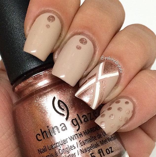 abbastanza Nude Nail Art Mani LD36