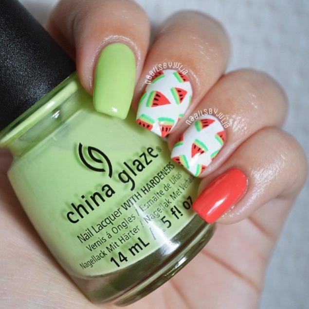 watermelon nails