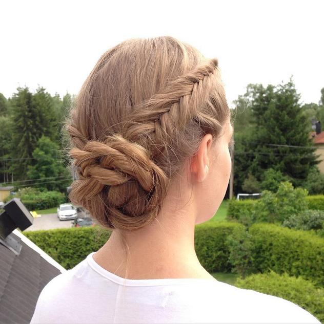Dutch fishtail braids into a ropetwist bun #hairstyles_by_linn
