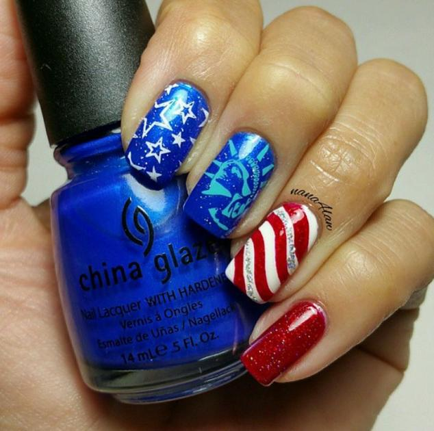 Stars, stripes and the Statue of Liberty