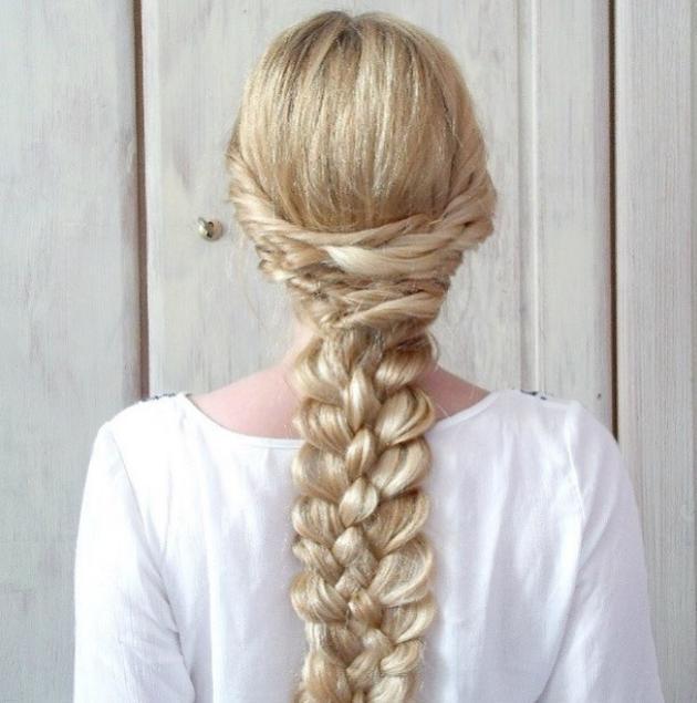 Twists and five strand combo braid