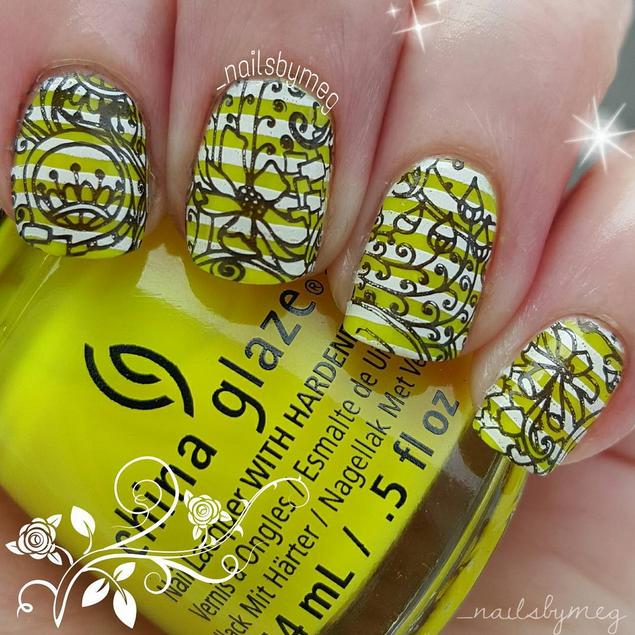 double stamping nail art