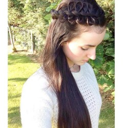 looped side braid #hairstyles_by_shannon