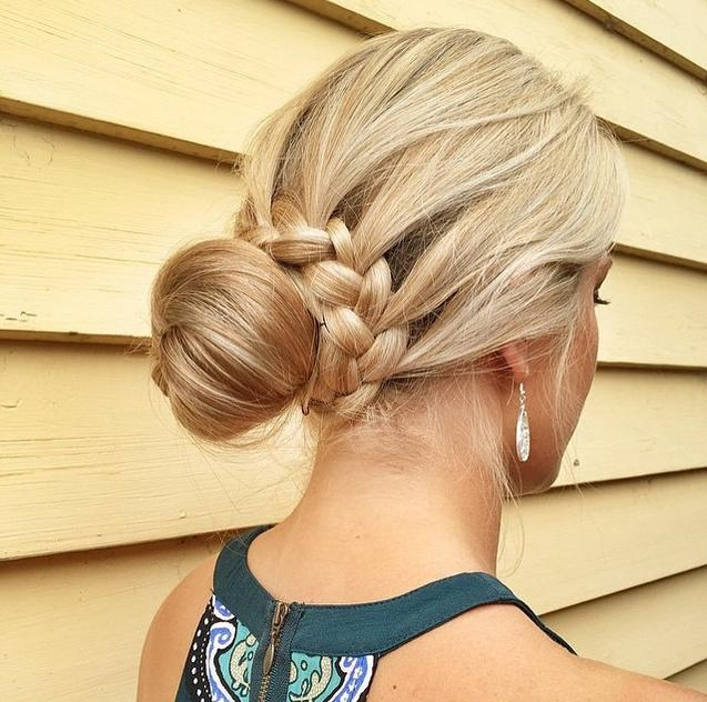 lovely braided bun