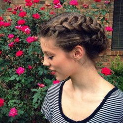 Mixed braid updo