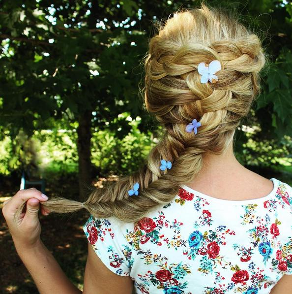 summer fishtail braid abigailrosehair