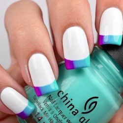 cute & simple french tip mani
