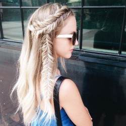 dutch fishtail braids