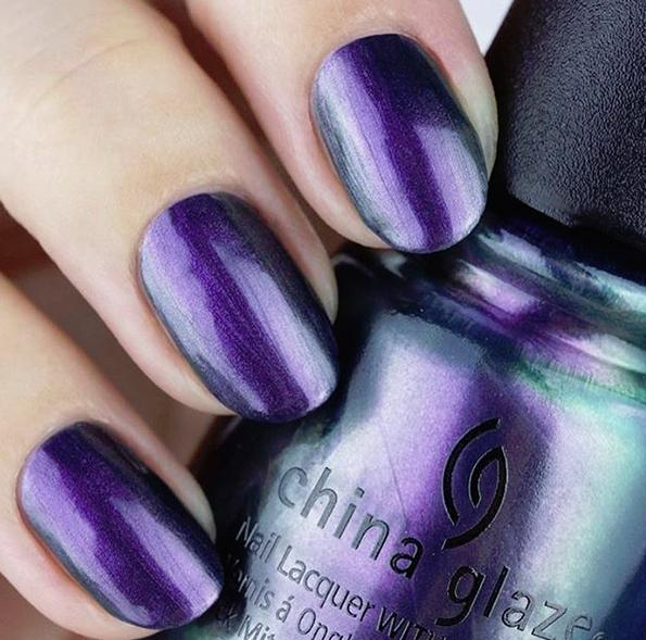 gorgeous purple green duochrome shade
