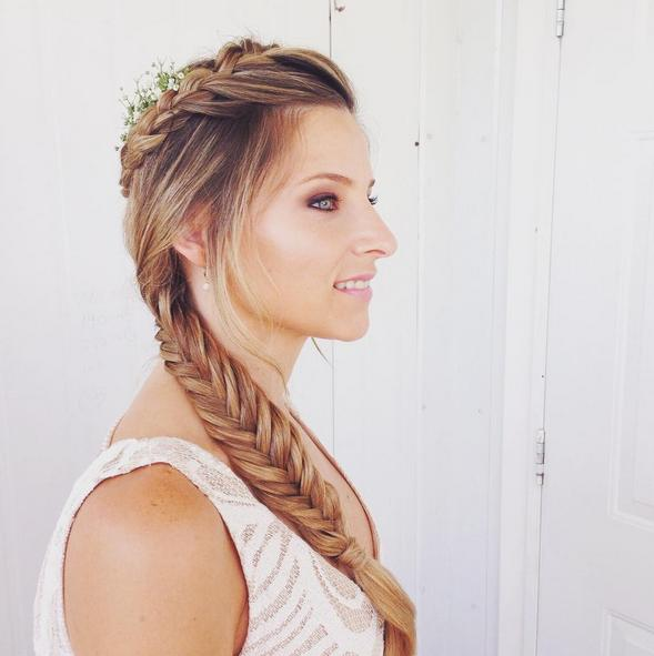 wedding inspired braid