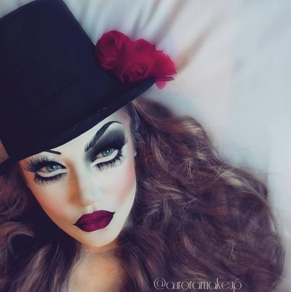 creepy top hat look