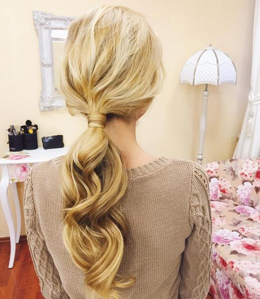 a beautiful ponytail