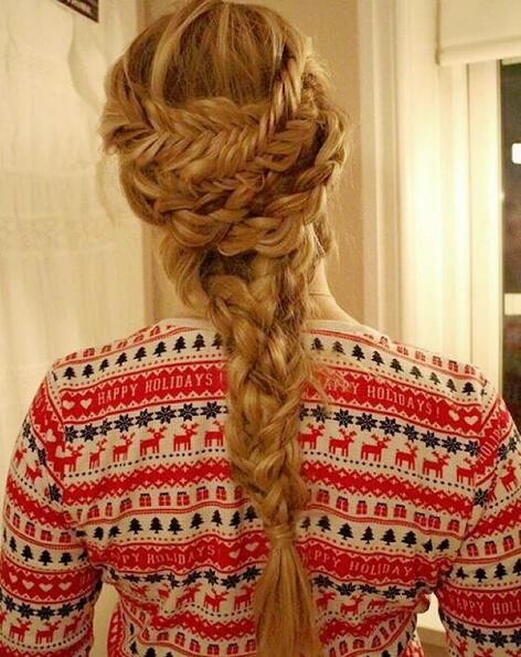 holiday inspired braid