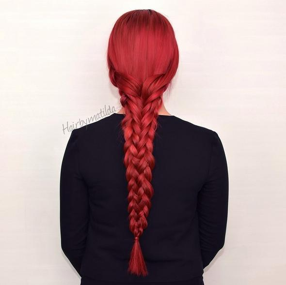 lovely red braided hair