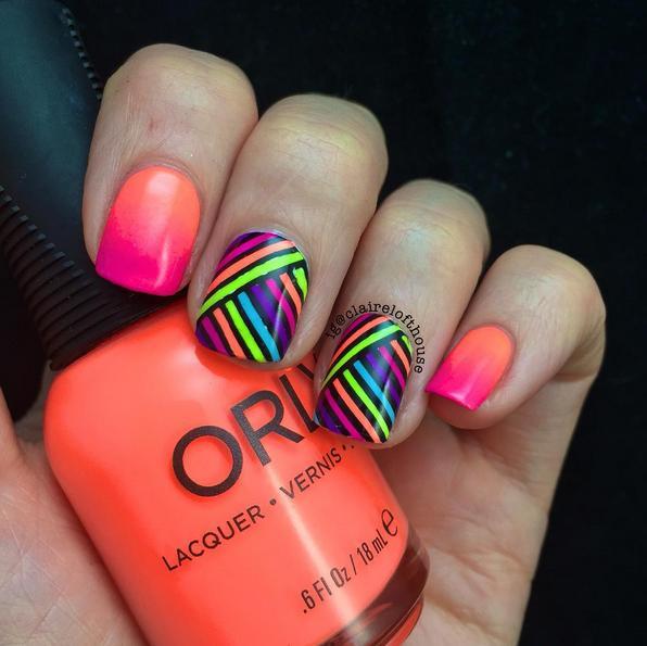 neon reverse stamping
