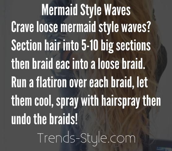 How To Get Mermaid Style Waves