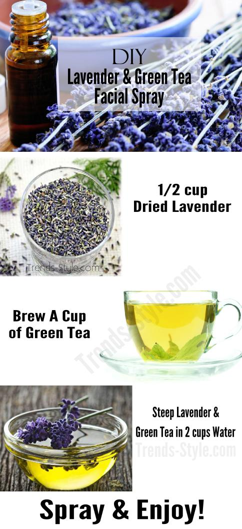 DIY Lavender & Green Facial Spray