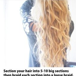 Perfect trick to creating beachy waves